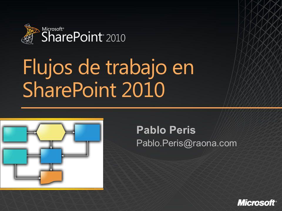 Flujos de trabajo en SharePoint 2010 Pablo Peris Pablo.Peris@raona.com