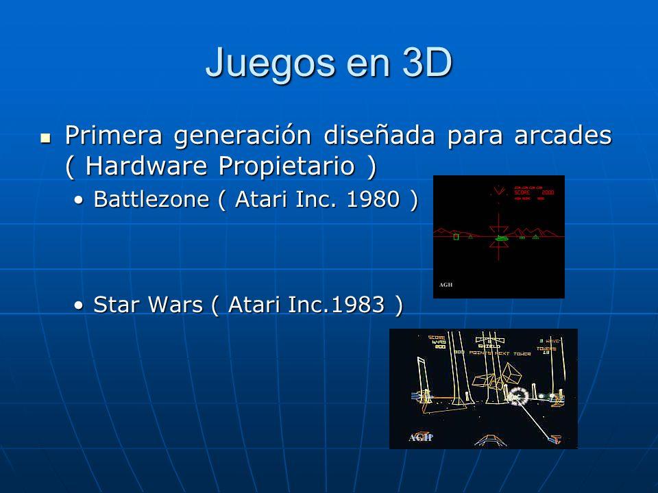 Juegos en 3D Segunda Generación revolución PC ( Hardware abierto, Software realizaba el procesamiento ) Segunda Generación revolución PC ( Hardware abierto, Software realizaba el procesamiento ) Juegos no necesariamente 3D Juegos no necesariamente 3D Wolfenstein ( Id Software.
