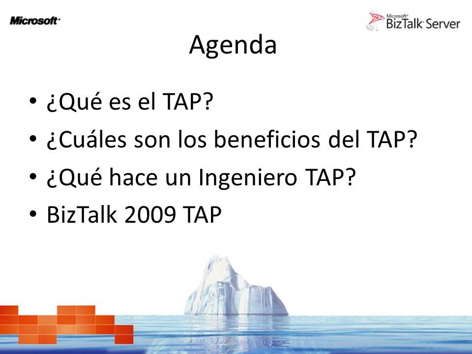 Agenda ¿Qué es el TAP. ¿Cuáles son los beneficios del TAP.