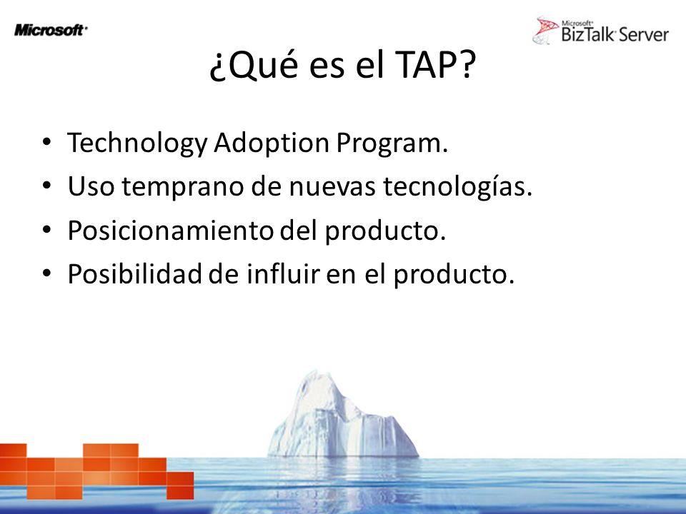 ¿Qué es el TAP. Technology Adoption Program. Uso temprano de nuevas tecnologías.