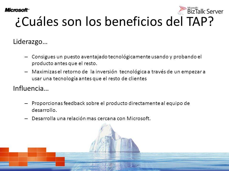 ¿Cuáles son los beneficios del TAP.