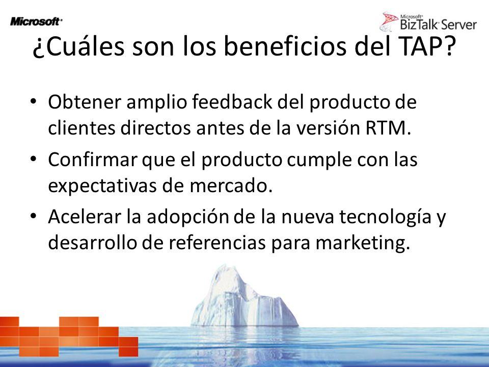 Obtener amplio feedback del producto de clientes directos antes de la versión RTM.
