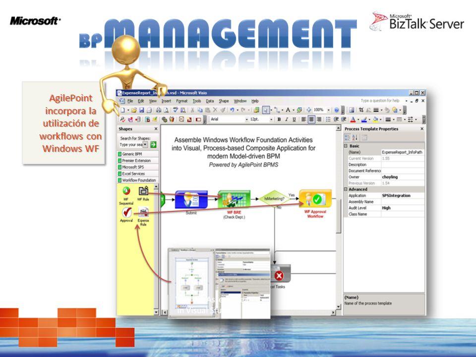 AgilePoint incorpora la utilización de workflows con Windows WF