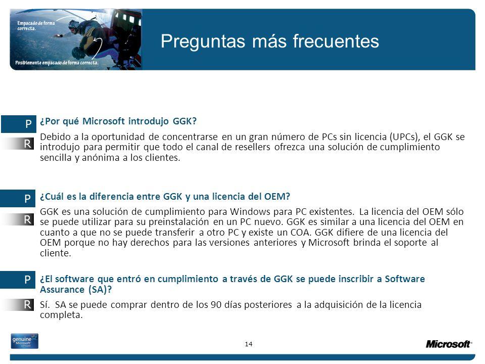¿Por qué Microsoft introdujo GGK? Debido a la oportunidad de concentrarse en un gran número de PCs sin licencia (UPCs), el GGK se introdujo para permi