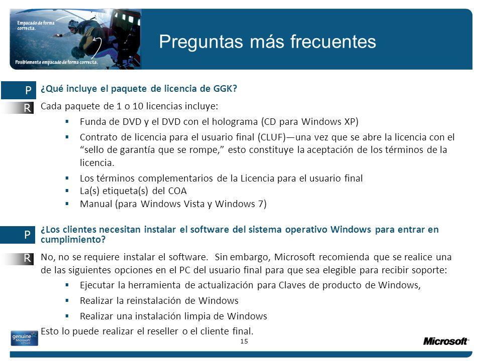 ¿Qué incluye el paquete de licencia de GGK? Cada paquete de 1 o 10 licencias incluye: Funda de DVD y el DVD con el holograma (CD para Windows XP) Cont