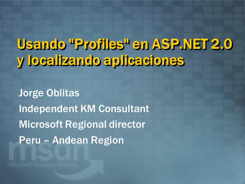 Jorge Oblitas Independent KM Consultant Microsoft Regional director Peru – Andean Region Usando