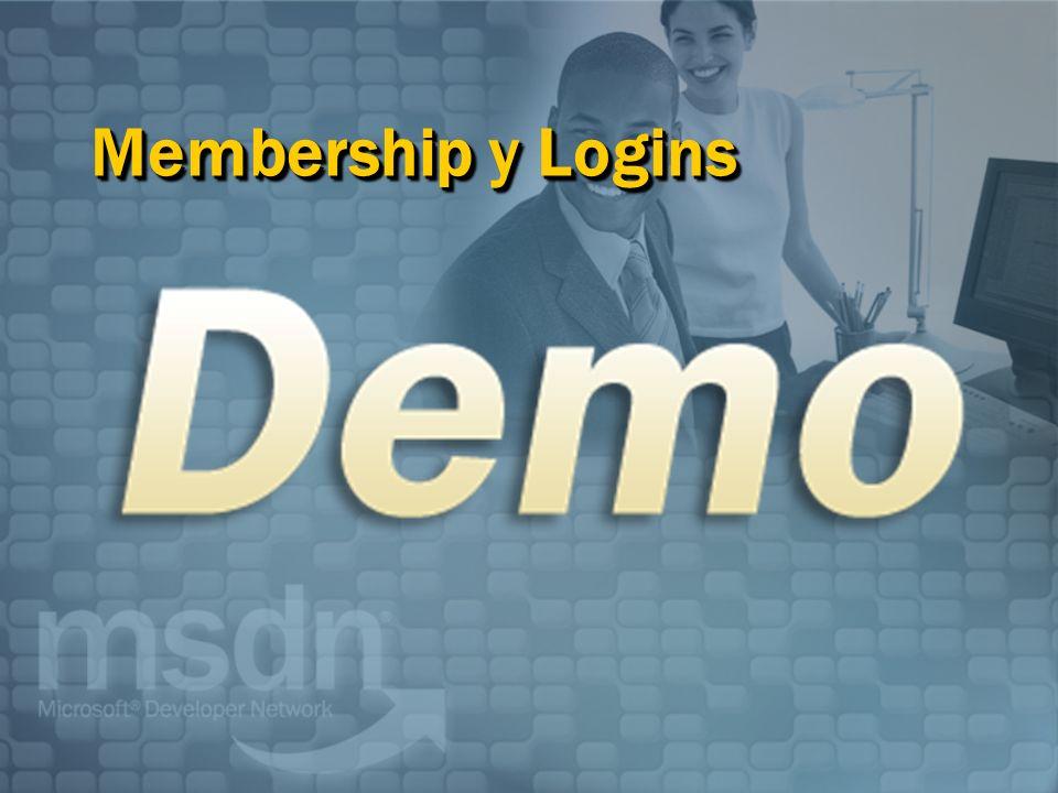 Membership y Logins