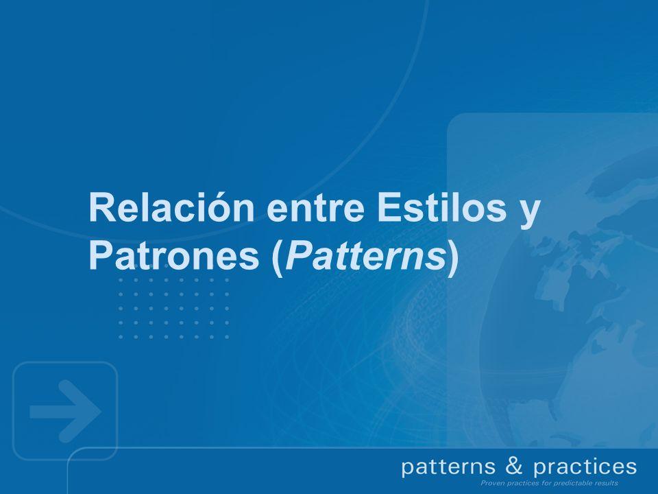 Relación entre Estilos y Patrones (Patterns)