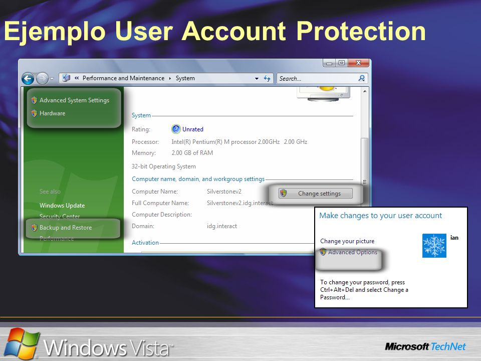 Ejemplo User Account Protection