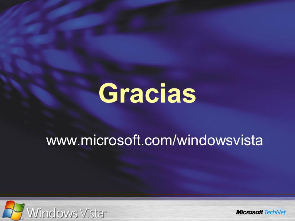 Gracias www.microsoft.com/windowsvista