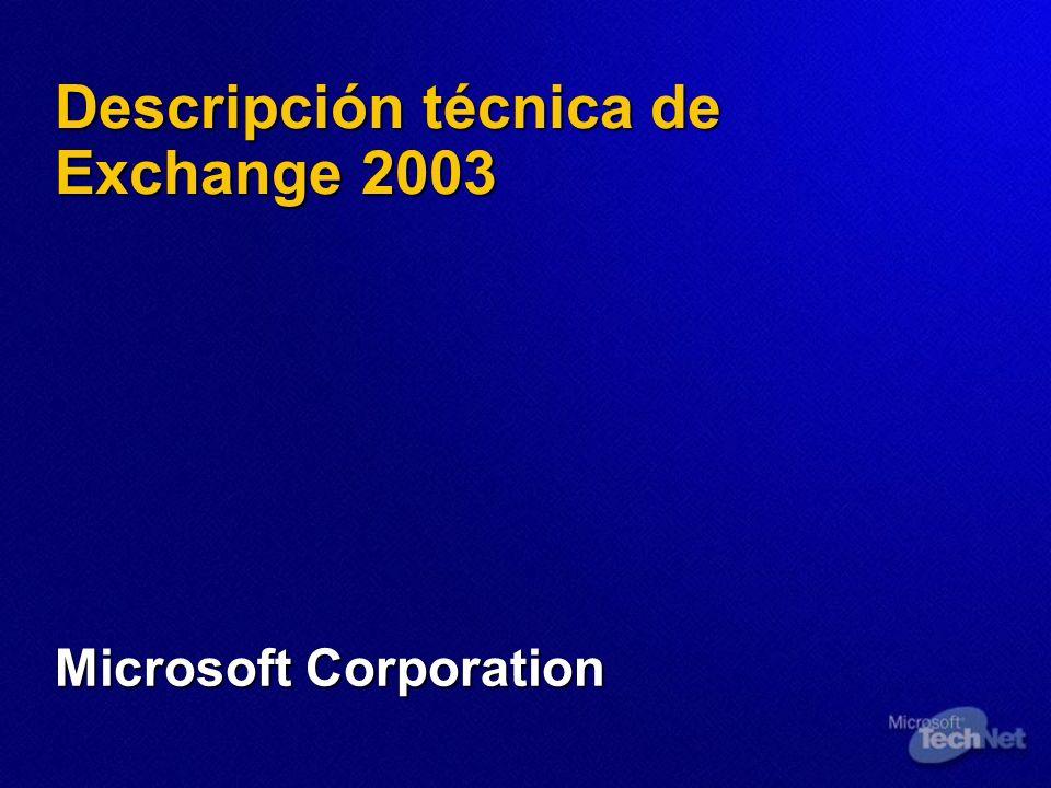 Exchange 2003 y Outlook 2003 Objetivos de diseño de Outlook 2003 Arreglos Arreglos Fecha, asunto, conversación, etc.