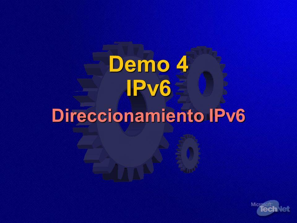Demo 4 IPv6 Direccionamiento IPv6