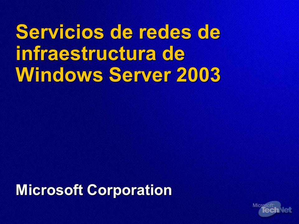 Servicios de redes de infraestructura de Windows Server 2003 Microsoft Corporation
