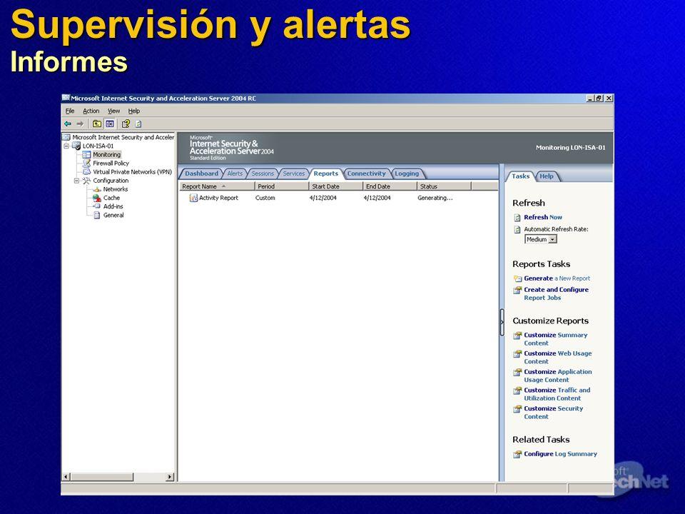 Supervisión y alertas Informes