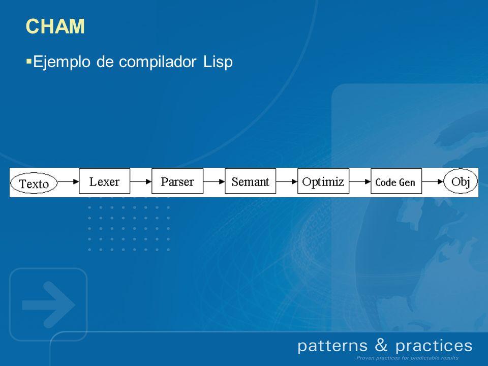 CHAM Ejemplo de compilador Lisp