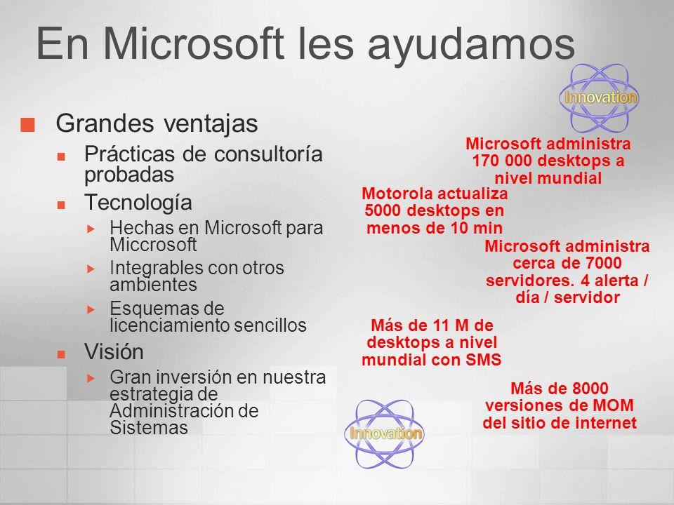 En Microsoft les ayudamos Grandes ventajas Prácticas de consultoría probadas Tecnología Hechas en Microsoft para Miccrosoft Integrables con otros ambi