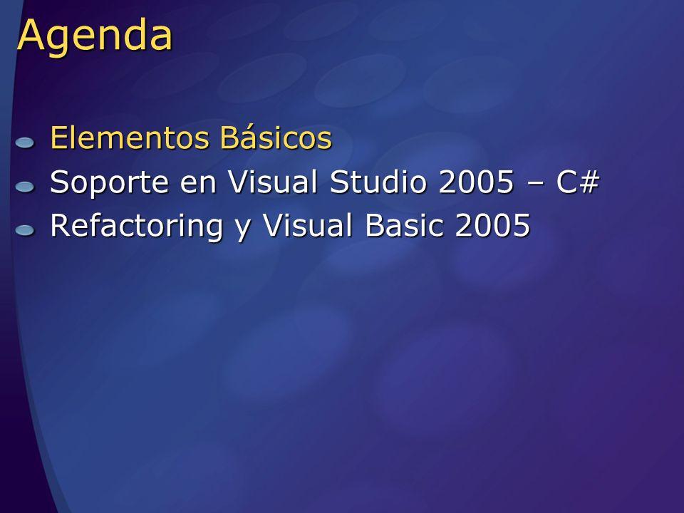 Demos Refactor for Visual Studio 2005 & VB Encapsulate Field Split Introduce Constant Extract Method Reorder Parameters