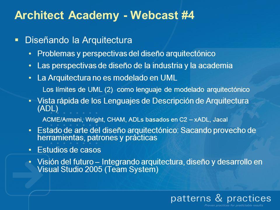 Architect Academy - Webcast #4 Diseñando la Arquitectura Problemas y perspectivas del diseño arquitectónico Las perspectivas de diseño de la industria