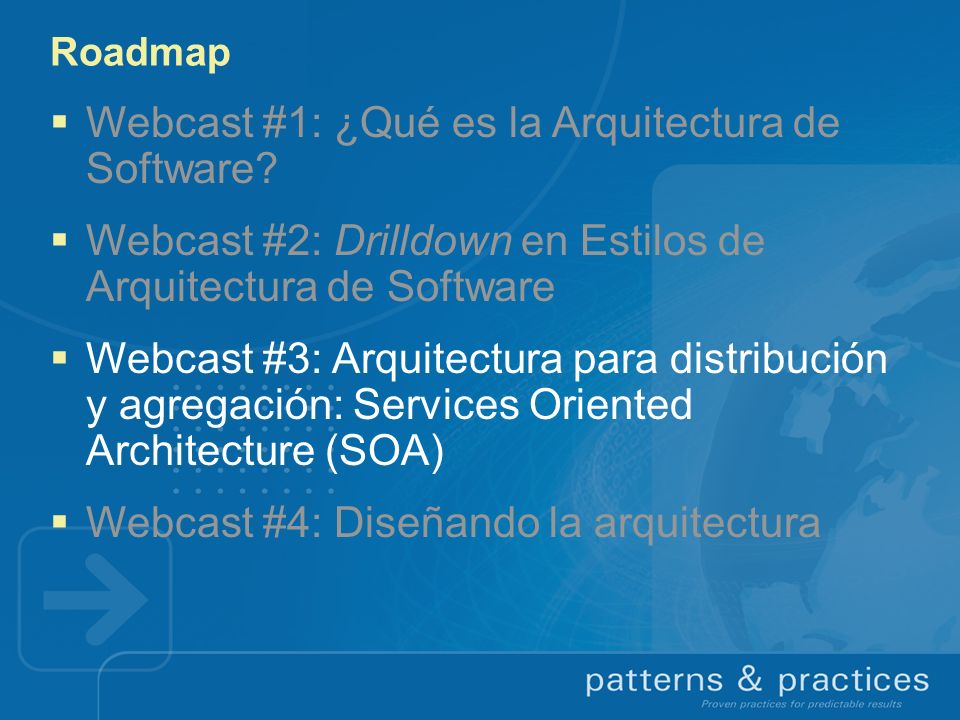 Drilldown: Policy Driven Architecture Más allá de WSDL ¿qué más se requiere para describir un (web) service.