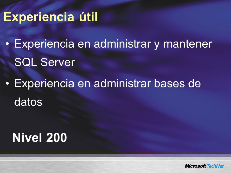 Demo SQL Configuration Manager Usar el Administrador de configuración demo