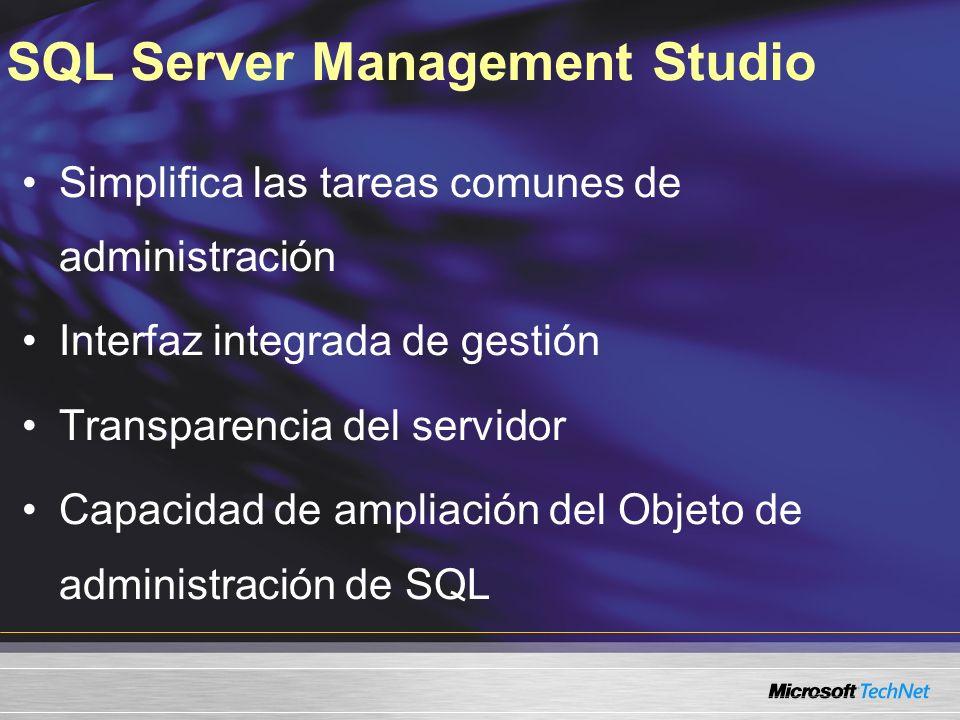 Servidores registrados Ambiente de gestión integrado