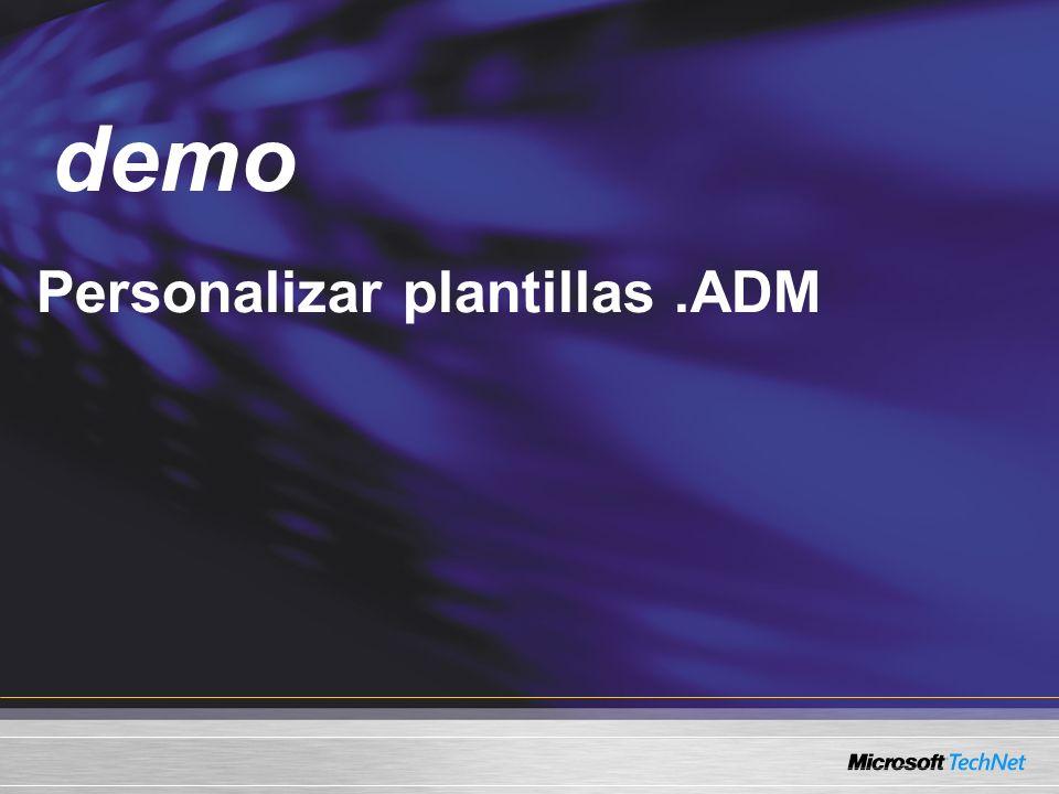 Demo Personalizar plantillas.ADM demo