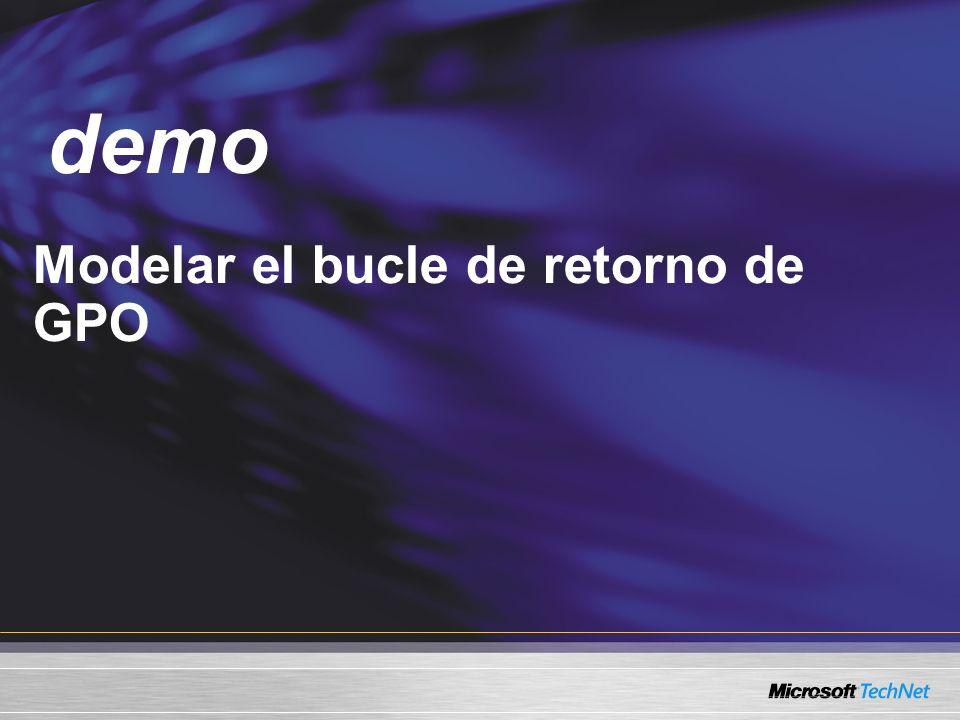 Demo Modelar el bucle de retorno de GPO demo