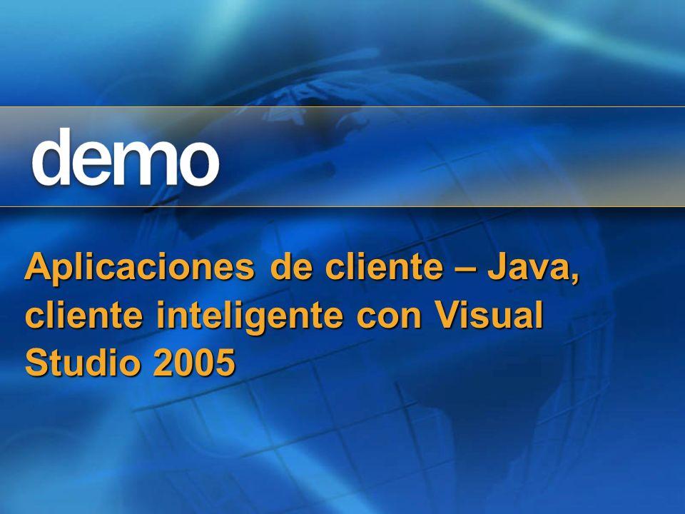 Aplicaciones de cliente – Java, cliente inteligente con Visual Studio 2005