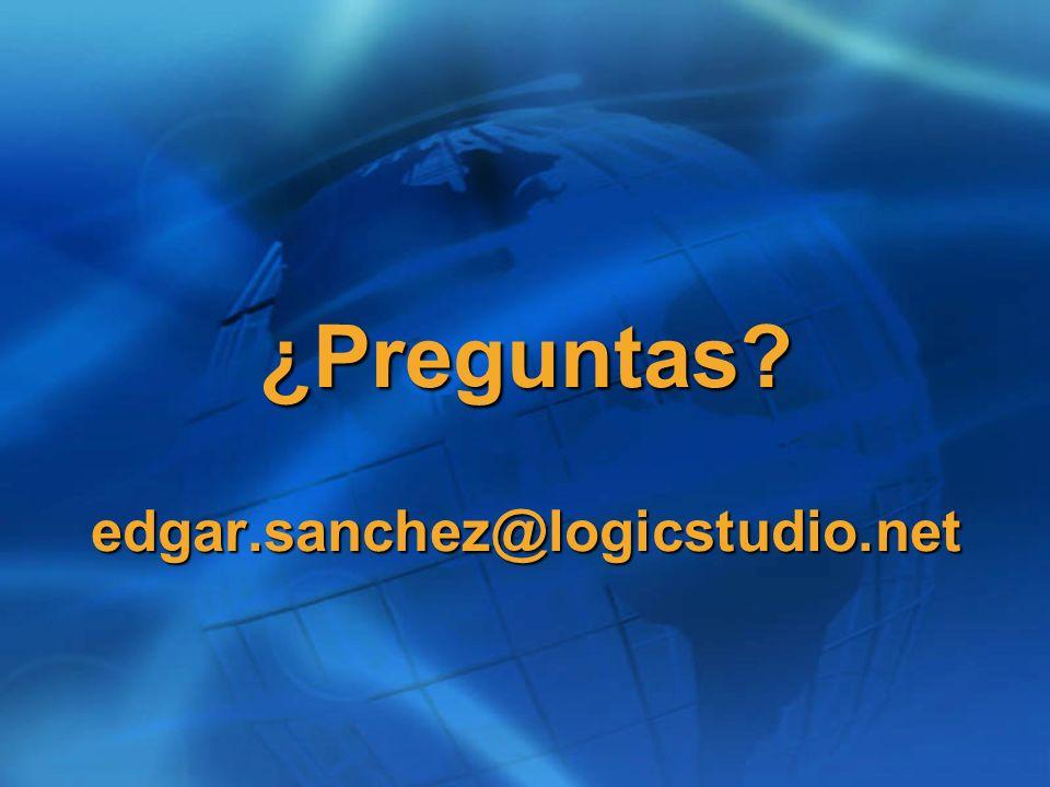 ¿Preguntas edgar.sanchez@logicstudio.net