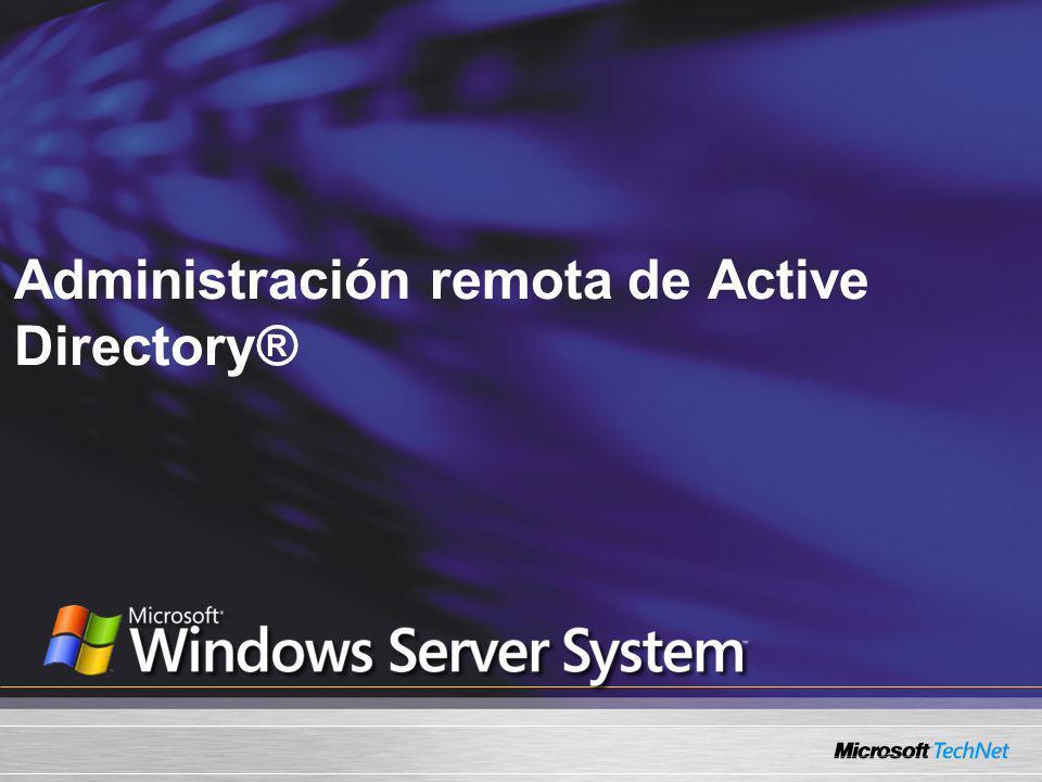 Lo que vamos a cubrir: Mejoras a nivel bosque y dominio Consideraciones para el diseño y la planeación de una sucursal Windows Management Instrumentation (WMI) Herramientas de Windows Server 2003