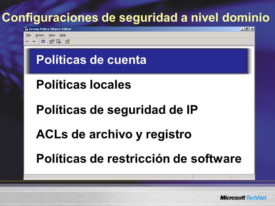Políticas de restricción de software Aplicación iniciada Regla hash Regla de certificado Regla de ruta de acceso Regla de zona de Internet