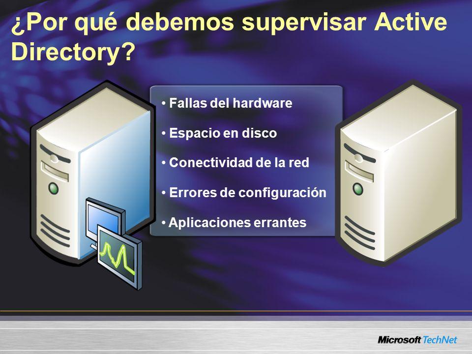 ¿Por qué debemos supervisar Active Directory.