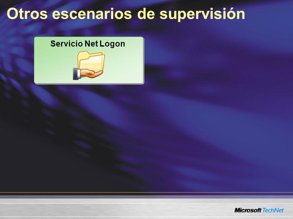 Otros escenarios de supervisión Servicio Net Logon