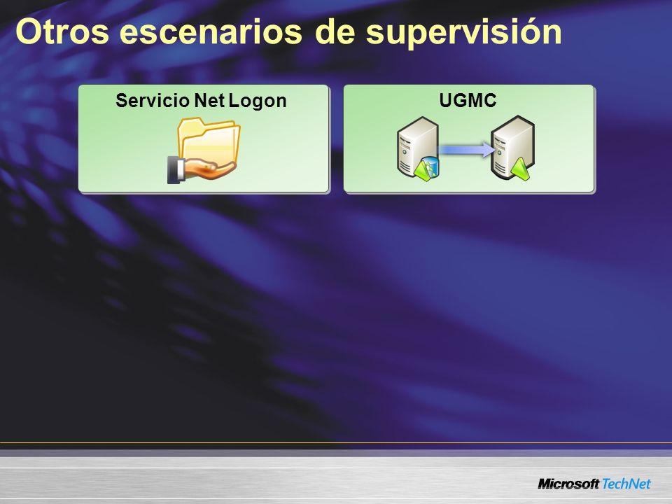 Otros escenarios de supervisión Servicio Net Logon UGMC
