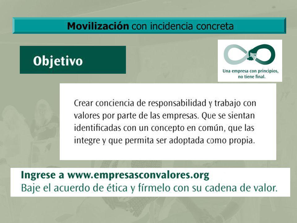 Movilización con incidencia concreta