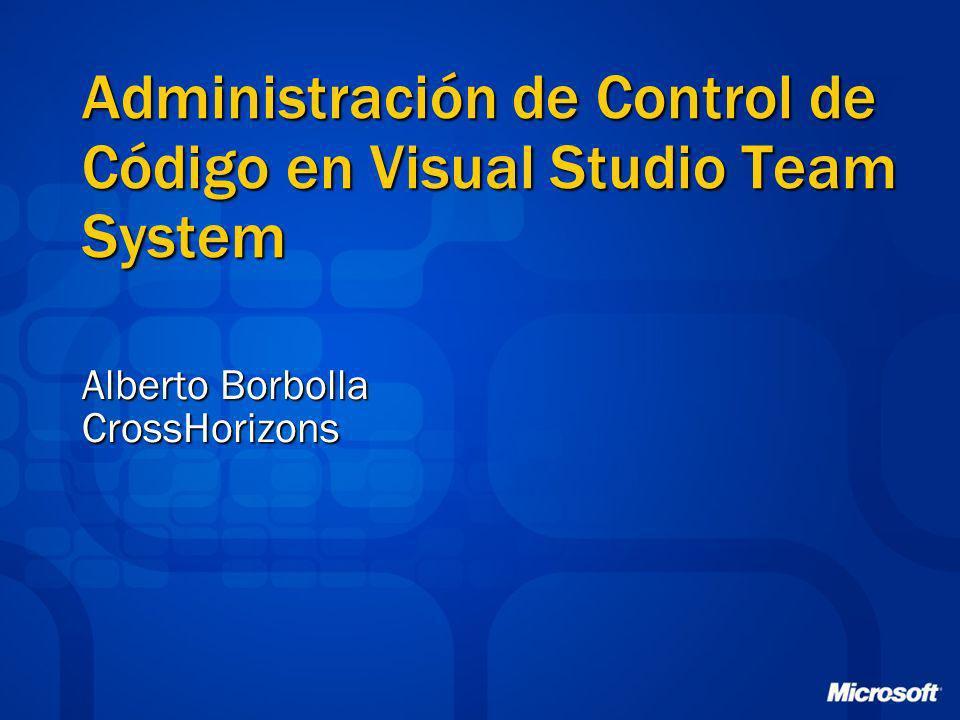 Administración de Control de Código en Visual Studio Team System Alberto Borbolla CrossHorizons