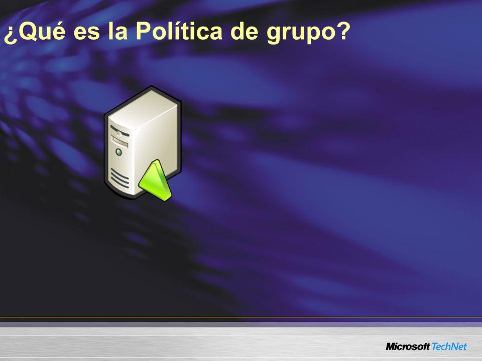 ¿Qué es la Política de grupo?