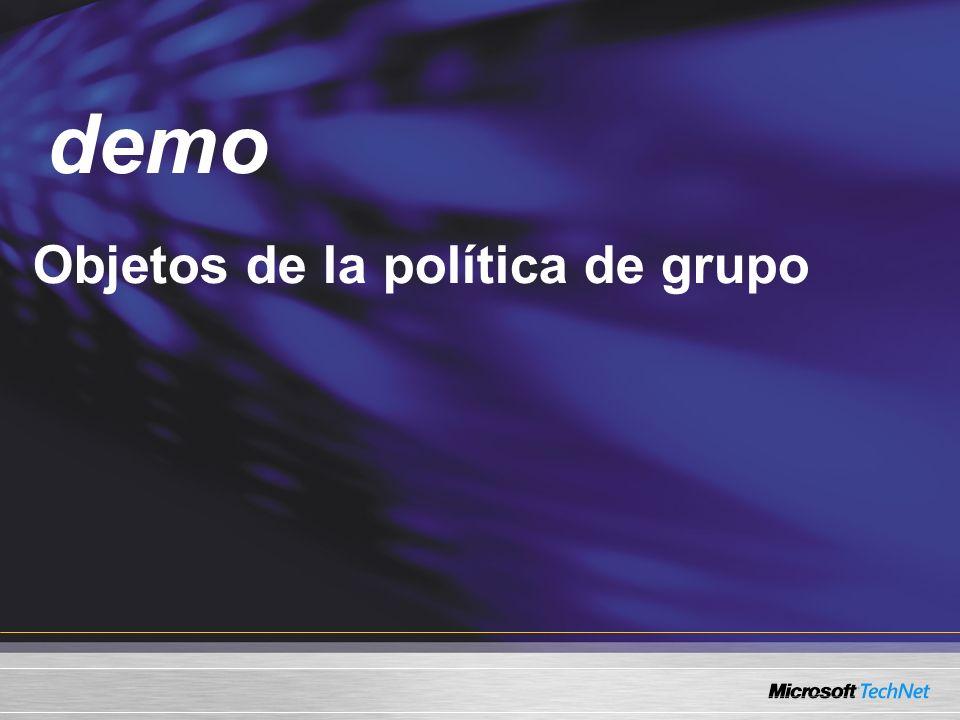 Demo Objetos de la política de grupo demo