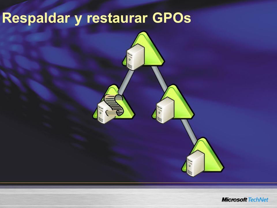 Respaldar y restaurar GPOs