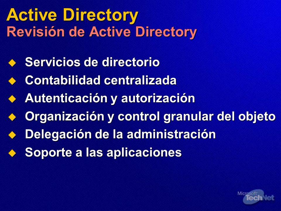 Servicios de directorio Servicios de directorio Contabilidad centralizada Contabilidad centralizada Autenticación y autorización Autenticación y autor