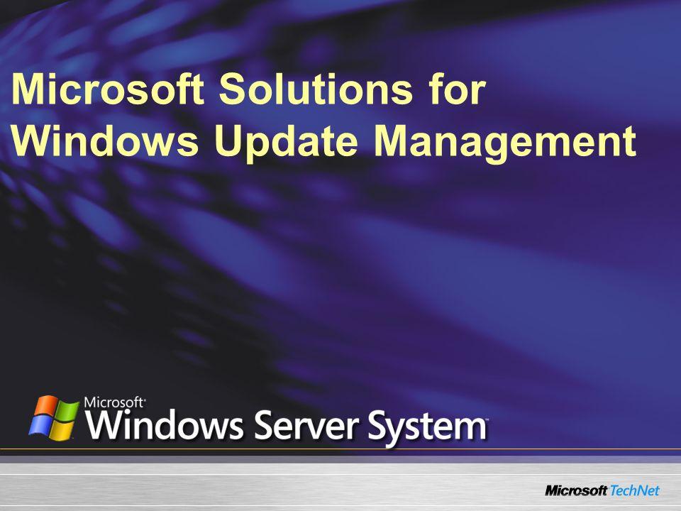 WSUS – Integración de MBSA MBSA se puede utilizar con WSUS MBSA se puede escanear con base en actualizaciones aprobadas sobre WSUS en lugar de Windows Update Disponible con GUI e interfaces de línea de comando de MBSA