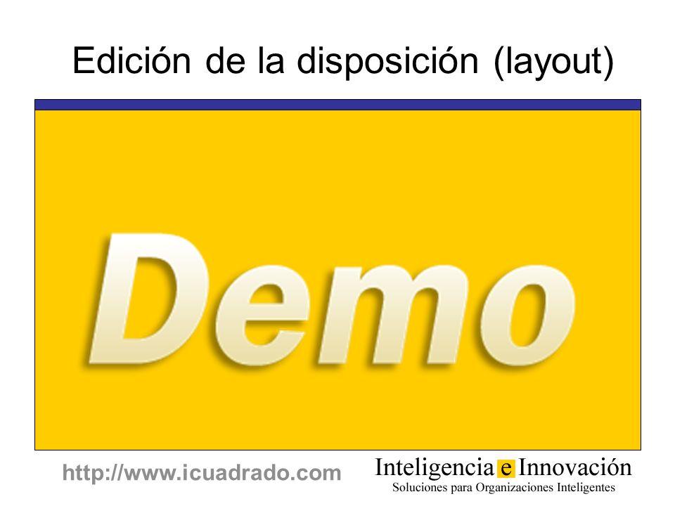 http://www.icuadrado.com Edición de la disposición (layout)