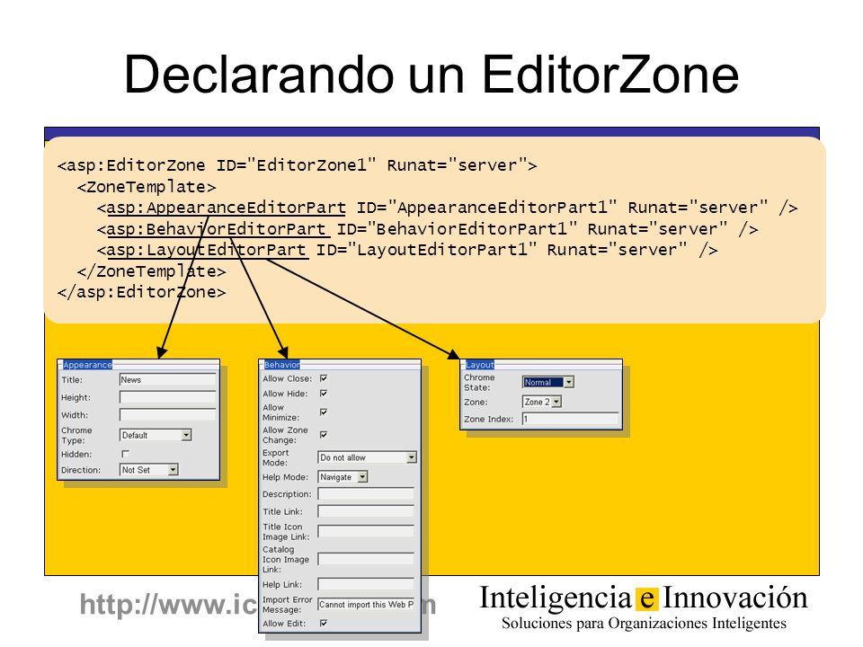 http://www.icuadrado.com Declarando un EditorZone