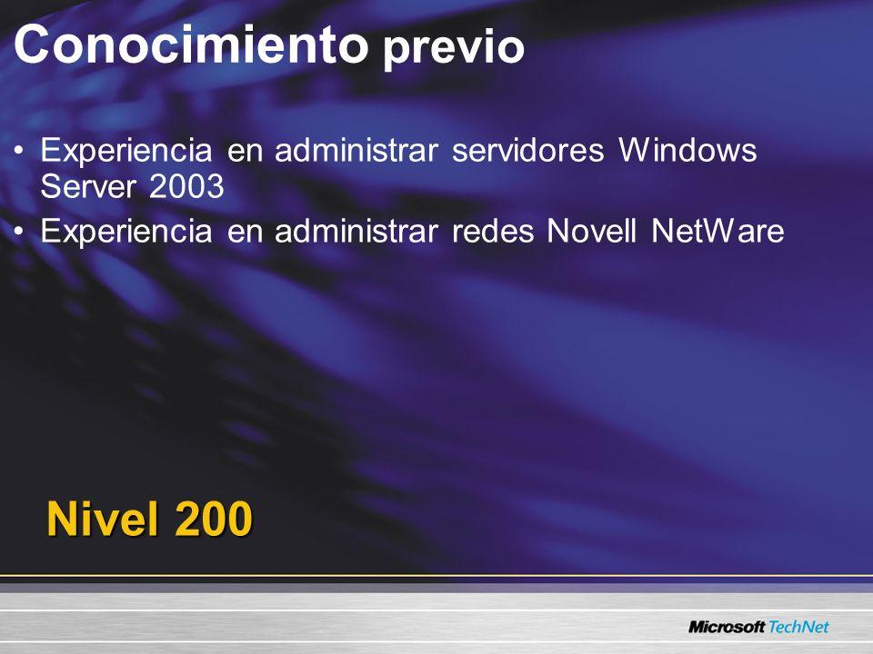 Agenda Servicios para NetWare Sincronización y migración del directorio Migrar recursos de archivo Configuración de la estación de trabajo y resolución de problemas de migración