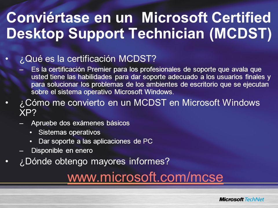 Conviértase en un Microsoft Certified Desktop Support Technician (MCDST) ¿Qué es la certificación MCDST.