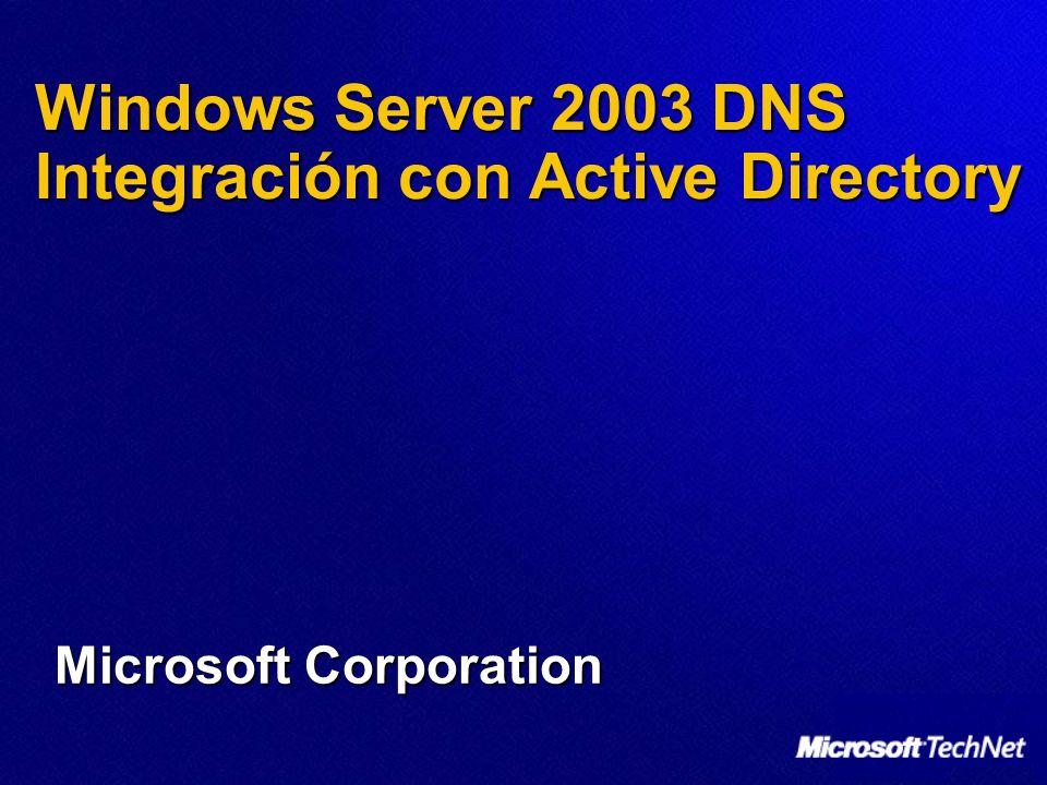 Integración de Active Directory Zonas integradas de Active Directory Servidor DNS primario Servidor DNS primarios Sitio de Londres Sitio de Seattle Sitio de Tilbury Sitio de Nueva York Servidor DNS primarios