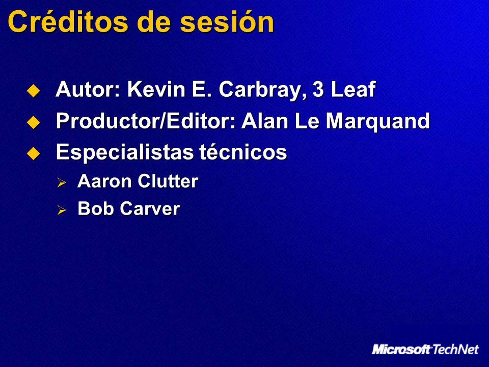 Créditos de sesión Autor: Kevin E. Carbray, 3 Leaf Autor: Kevin E. Carbray, 3 Leaf Productor/Editor: Alan Le Marquand Productor/Editor: Alan Le Marqua