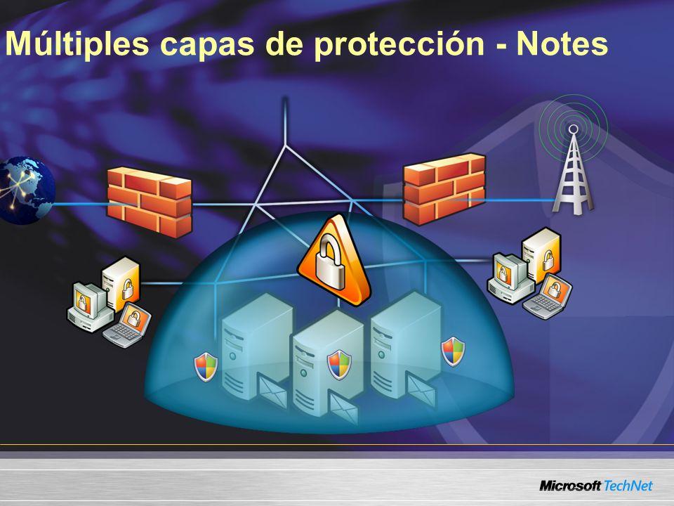 Múltiples capas de protección - Notes