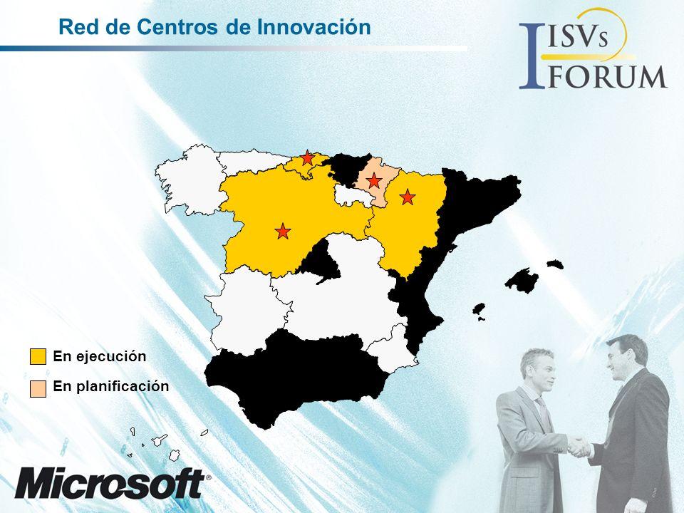 En ejecución En planificación Red de Centros de Innovación
