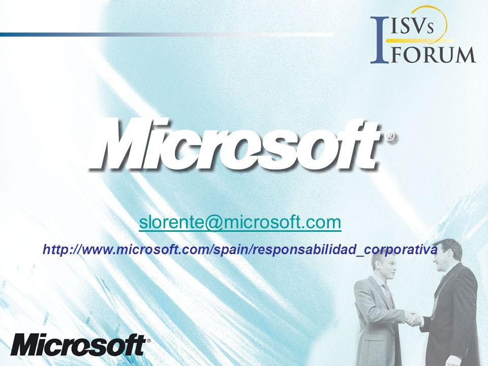 slorente@microsoft.com http://www.microsoft.com/spain/responsabilidad_corporativa